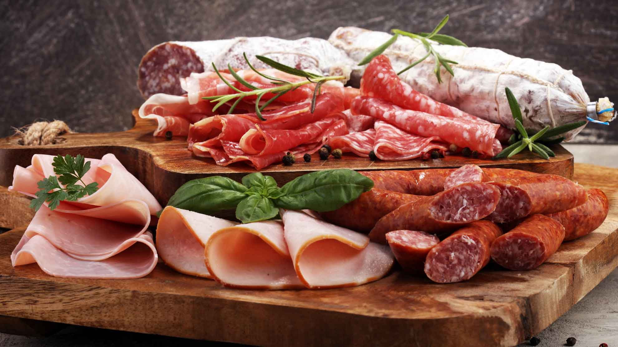 Nitrit: Salami und Schinken