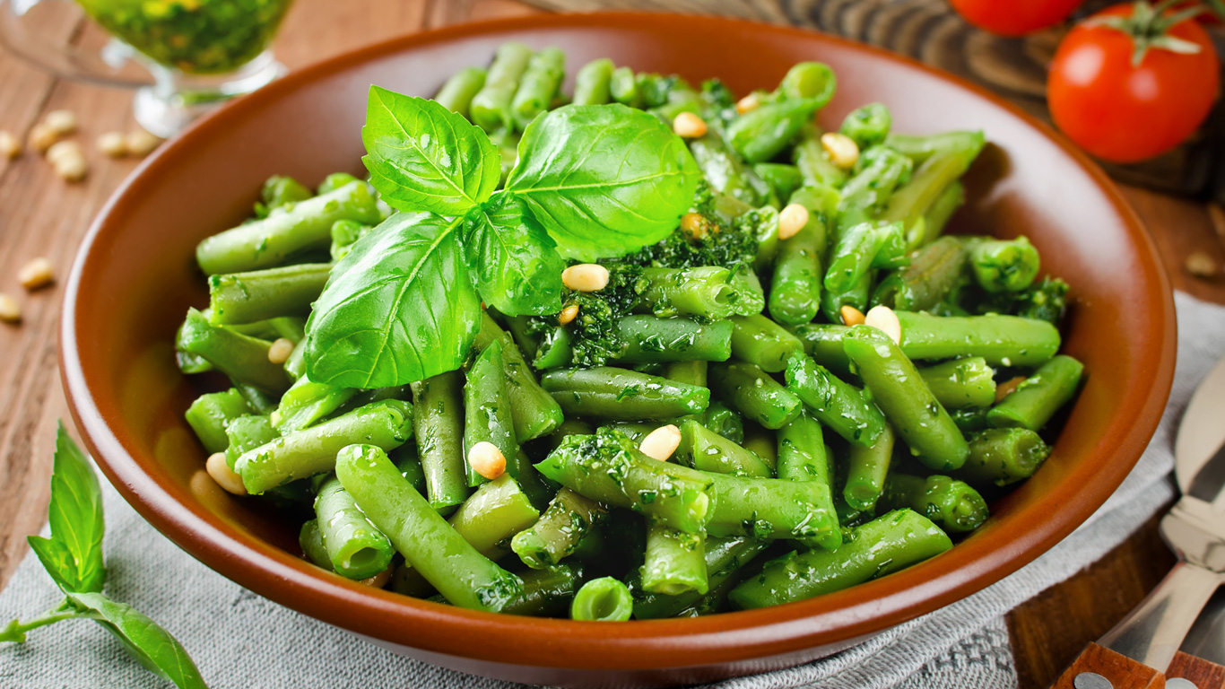 Grüne frische Bohnen