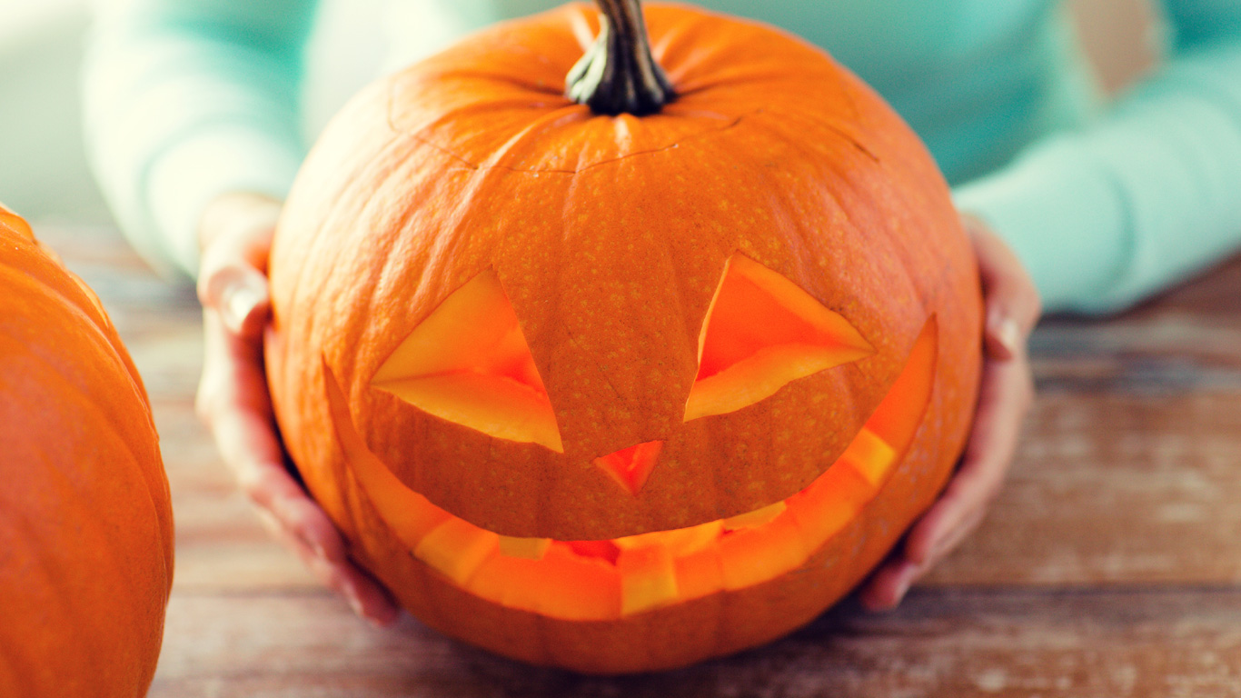 Riesenkürbiss zum Essen und für Halloween