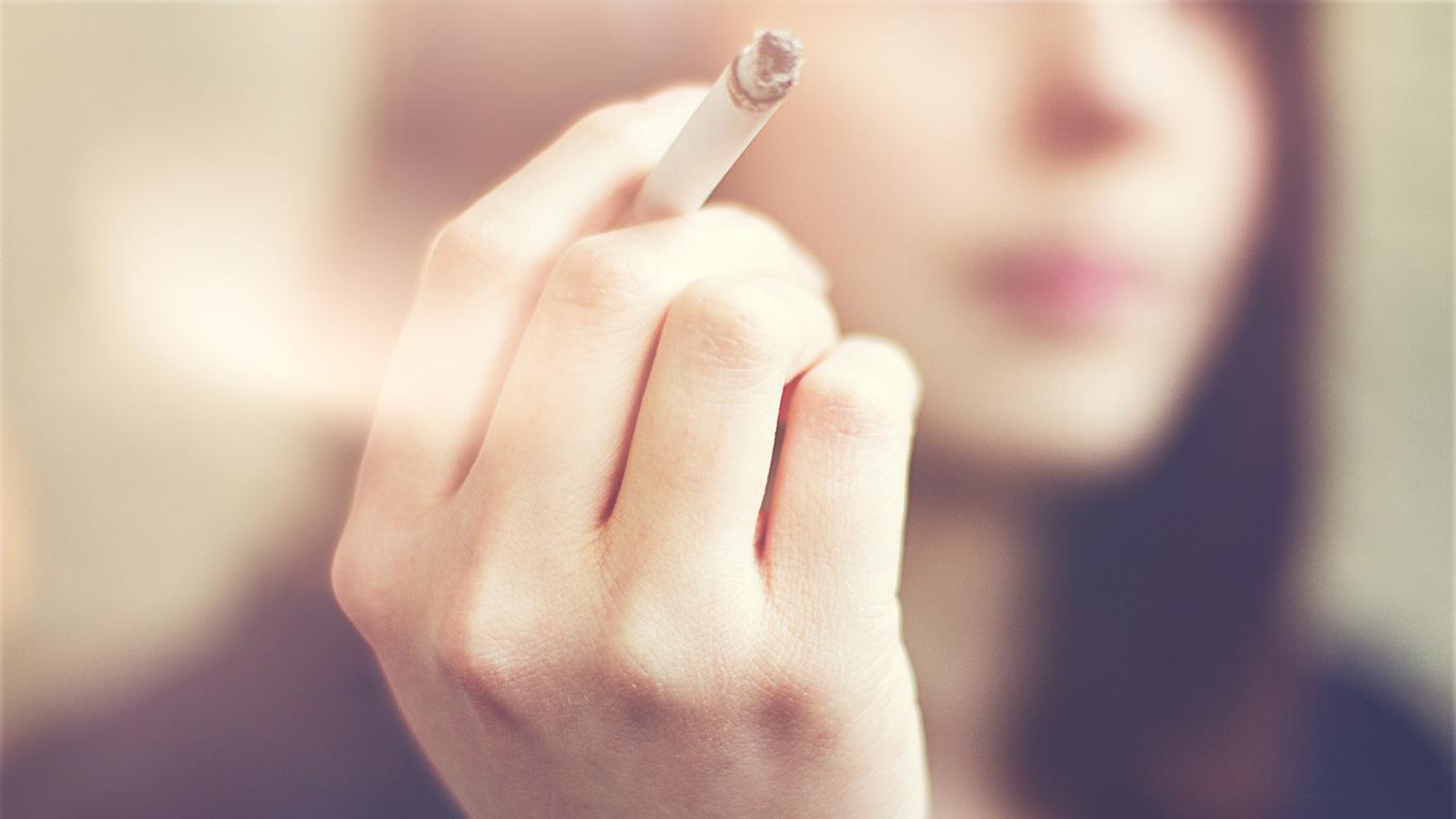 Hände weg von Zigaretten