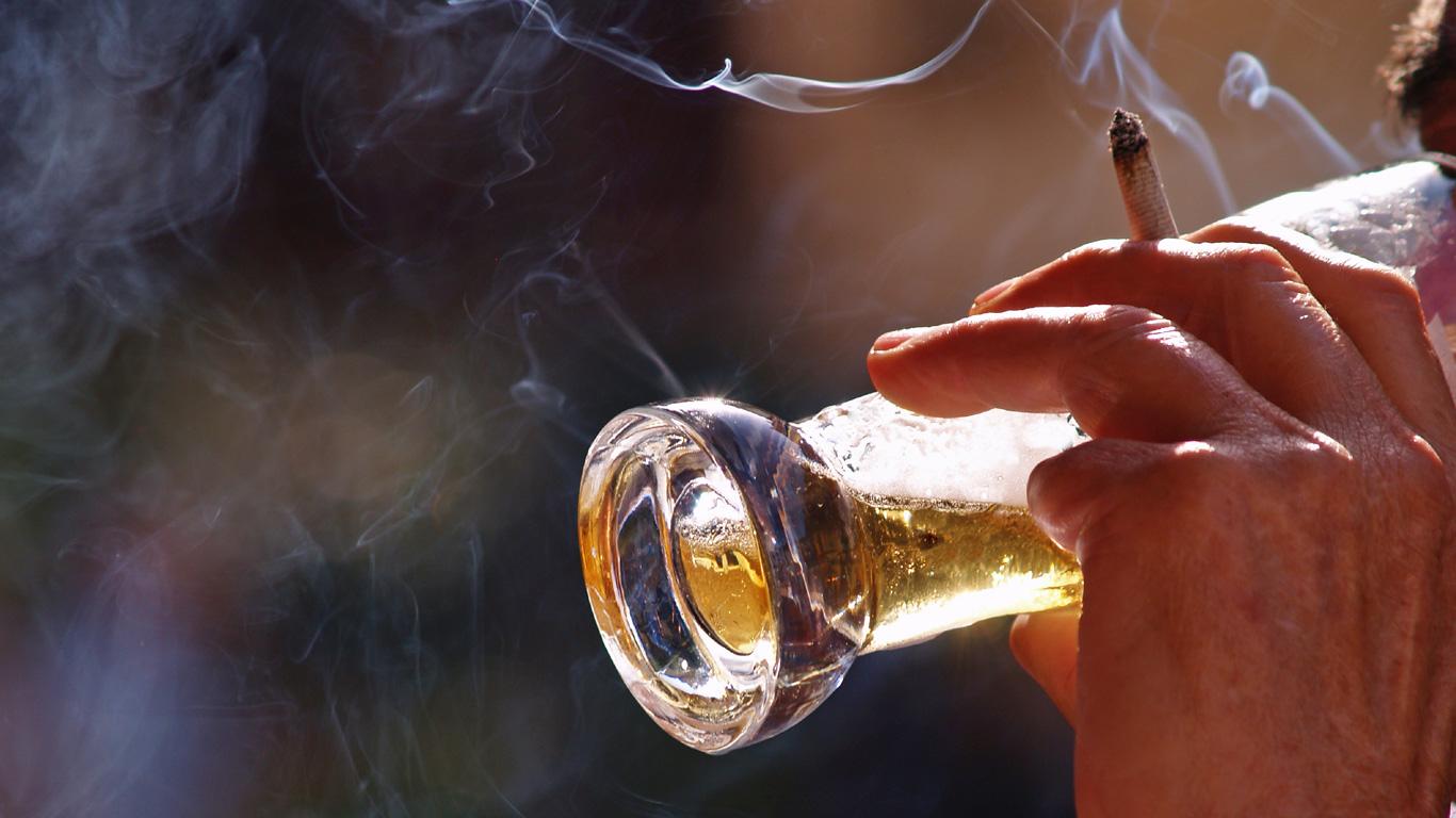 Finger weg von Alkohol und Zigaretten